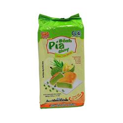 Ciasteczka PIA VEGE o smaku duriana i pandanu 400g   BÁNH PÍA CHAY DỨA - SẦU RIÊNG 400g x 30/krt ( 91204)