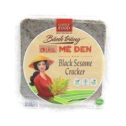 Craker z kokosem i  z czarnym sezamem  SIMPLE FOOD 500g | Banh Trang Dua Me Den Loai Vuong 500g x 30opak/krt