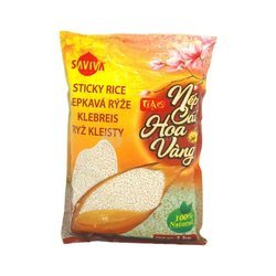 Ryż kleisty SAVIVA 1kg | Gao Nep Cai Hoa Vang Saviva 1kg x 30szt/wok